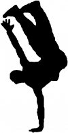 Dancer One Hand Stand Decal