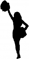 Cheerleader Decal Sports Car Truck Window Wall Laptop Decal Sticker