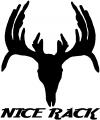 Nice Rack Hunting Decal