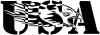 Flaming Eagle Head USA Decal