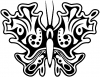 Tribal Butterfly Decal Butterflies Car Truck Window Wall Laptop Decal Sticker