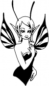 Cute Pixie Fairy Decal Enchantments Car Truck Window Wall Laptop Decal Sticker