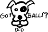 Got Old Balls Decal