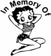 In Memory Of Betty Boop Decal