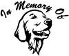 In Memory Of Golden Retriever Decal
