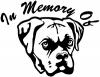 In Memory Of Boxer Bulldog Decal Animals car-window-decals-stickers