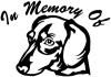 In Memory Of Dotson Dog Decal