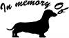 In Memory Of Dachshund Decal Animals car-window-decals-stickers
