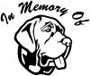 In Memory Of Mastiff Dog Decal