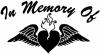 In Memory Of Heart With Wings Decal Christian car-window-decals-stickers