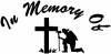 In Memory Of Fireman Decal Christian car-window-decals-stickers