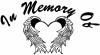 In Memory Of Heart With Wings Decal