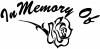 In Memory Of Rose Decal Girlie car-window-decals-stickers
