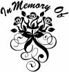 In Memory Of Roses Decal Girlie car-window-decals-stickers