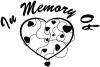 In Memory Of Hearts Decal