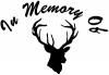 In Memory Of Big Buck Hunting Decal