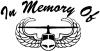 In Memory Of Helicopter with Wings Decal