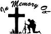 In Memory Of Troop at Cross Decal