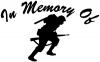 In Memory Of Military Troop Decal