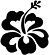 Hibiscus Flower Decal
