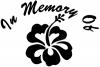 In Memory Of Hibiscus Flower Decal