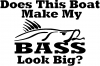 Does This Boat Make My Bass Decal