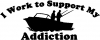 I Work To Support Fishing Decal