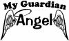 My Guardian Angel With Wings Decal Christian car-window-decals-stickers