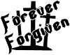 Forever Forgiven 3 Crosses Decal