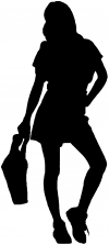 Girl Shopping Silhouette Decal