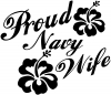 Proud Navy Wife Hibiscus Flowers