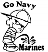 Go Navy Pee On Marines Decal