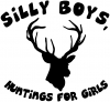 Silly Boys Huntings for girls Decal
