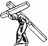 Jesus With The Cross Christian Decal
