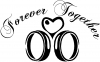 Forever Together Marriage Wedding Decal