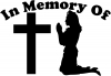 In Memory Of Nurse At Cross Decal Christian car-window-decals-stickers