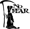 Grim Reaper No Fear Decal Biker car-window-decals-stickers
