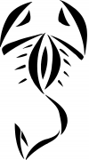 Tribal Scorpion Decal Tribal car-window-decals-stickers