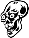 Big Eyed Skull Decal