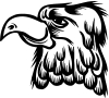 Cartoon Eagle Head Decal