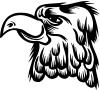 Cartoon Eagle Head Decal