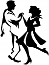 Couple Dancing 1 Line Art Decal