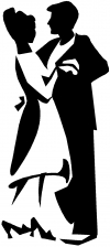 Couple Dancing 2 Line Art Decal
