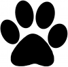School  Team Paw Print Decal