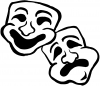 Drama Theater Masks Decal