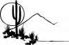 Western Cactus Moon Scene Decal