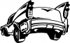 Classic Big Fin Muscle Car Decal Garage Decals Car Truck Window Wall Laptop Decal Sticker