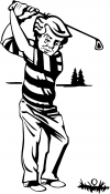 Golf Swing Decal