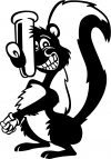 Stinky Skunk Decal Animals car-window-decals-stickers