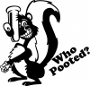 Funny Skunk Who Pooted Decal